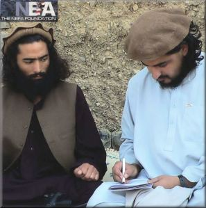 Hakimullah authoring the notes